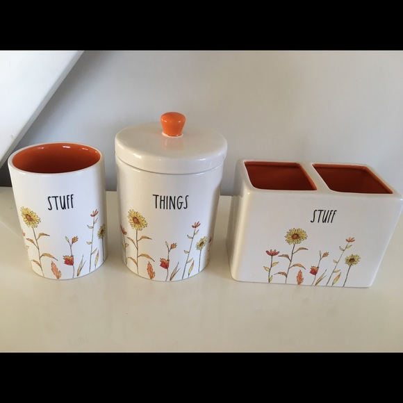 Rae Dunn Other - Rae Dunn Stuff And Things Set Of three NWT